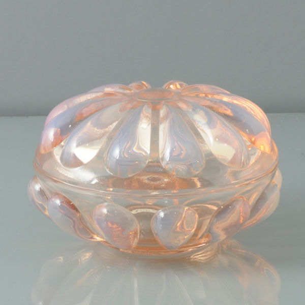 Fenton Art Glass Trinket Box Opalescent Pink Amp Pearl