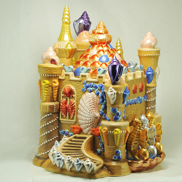 Sand Castle Cookie Jar Christopher Radko Home For The