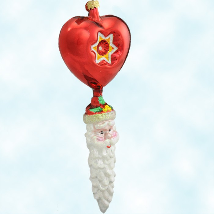 Christopher Radko Christmas Ornaments - Heartcicle Santa - German ...