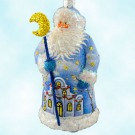 Century Santa- Scenic Village, Patricia Breen Christmas Ornaments, 2007, 2778, Neiman Marcus, exclusive, fully glittered, Swarovski crystals, Mint With Tag