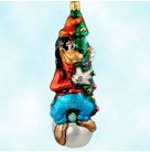 Goofy Tree - Disney, Radko Christmas Ornament, 1997, 97-DIS-23,  In turtleneck, vest, pants, shoes, tall hat, Mint with Tag, Box