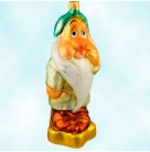 Sleepy Dwarf - Disney Snow White and the Seven Dwarfs, Radko Ornaments, 1997, 97-DIS-27, Yawning, Christmas Christopher, Mint with Tag, Box