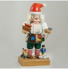 Santa Toy Maker Nutcracker, Old World Merck Family, 1996, 7285, Wears white shirt, brown apron with paint, Mint in Box