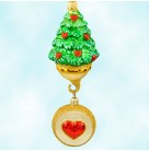 12 Days of Christmas - Five Golden Rings, Patricia Breen Christmas Ornaments, 1999, 9912, Tree, medallion, heart, Mint With Tag
