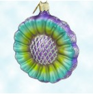 Patchwork Blossom, Christopher Radko Christmas Ornaments, 2001, 01-0659-0a, Lavender, turquoise, Mint With Tag