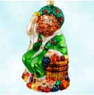 Ghost of Christmas Present, Radko Ornaments, 1999, 99-ACC-2, A  Carol, food, fruit, Mint with Tag, Box