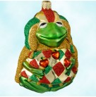 Yorick Frog - Gold, Patricia Breen Christmas Ornaments, 2000, 2046, Juggling apples, variant, animal, Mint With Tag