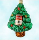 Andy's Tree - Green, Patricia Breen Ornaments, 2000, 2002, Pine tree, Breen Forest, Warhol Christmas Soup can, Mint With Tag