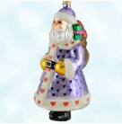 Candy Santa - Purple,  Christopher Radko Christmas Ornaments, 1998, 98-301-0, Ltd Store Exclusive, hearts, Star wand, Valentines, Mint with Tag
