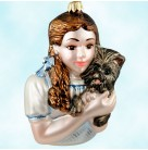 Wizard of Oz Dorothy with Toto, Polonaise Christmas Ornaments, 1998, AP819, Judy Garland as Dorothy Gale, Mint with Tag, Box