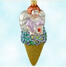 Angel Nosegay - Glittered Cone, Patricia Breen Christmas Ornaments, 1997, 9701, Variant, Heart letter, Valentine's, Mint with Tag