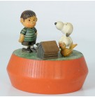 Music Box Top - Peanuts Charlie Brown & Snoopy, Anri, Vintage, Peanuts Collection, Dog house, Excellent vintage condition