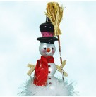 Snow Drop Reflections - Snowman, Christopher Radko Christmas Ornament, 2002, 02-0773-0, Italian, drop reflector, Mint With Tag