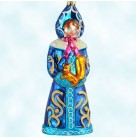 """Snow Princess - Frozen Icy Blue, Christopher Radko Christmas Ornaments, 1998, 98-419-0, Holds squirrel, 7 1/2"""", Mint With Tag"""