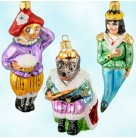 Nutcracker Suite II Set of 3, Radko Ornaments, 1996, 96-NC-2, Ltd 15000, Mouse King, prince, jester, Christmas, Mint with Tag, Box