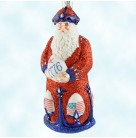 Imperial Santa -  Patriotic, Patricia Breen Christmas Ornaments, 2002, 2232, Neiman Marcus exclusive, American flag, 1776, Mint with Tag
