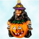 Punkin' Pal, Christopher Radko Ornaments, 1997, 97-241-0, Halloween, Witch, Jack O' Lantern, Excellent