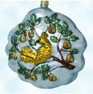 Partridge in a Pear Tree, Larry Fraga Ornaments, 2007, Limited Twelve Days of Christmas, Mint With Tag