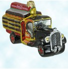 Coca Cola Truck, Polonaise Christmas Ornaments, 1996, GP804, Black 1940s, Coke, Traditional, red tank, golden coolers, Mint with Tag, Box