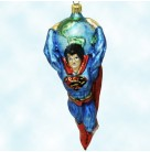 Superman - DC Comics, Radko Christmas Ornaments, 1996, 96-WB-1, LTD 7500, Superhero, cape, globe, Christmas, Mint with Tag, Box