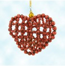Every Bead of My Heart, Radko Christmas Ornaments, 1996, 96-246-0, Czech Republic, red heart, Valentine's day, beaded, Mint With Tag