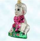 Honey Lamb, Radko Christmas Ornament, 2000, 00-260-0, Easter, Pearl, pink bow, animal, flowers, Mint