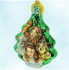 Dorothy and Her Friends - Wizard of Oz, Kurt Adler Polonaise Christmas Ornaments, 1999, AP1947NW, Emerald City, Mint with Tag, Box
