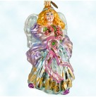 Shining Hope, Radko Christmas Ornament, 2003, 1010301, Beast Cancer Charity, pink ribbon, Mint with Tag