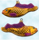 Goldie Fish, Radko Ornaments, 1997, 97-212-0, Purple fins, Animal, Christmas, Christopher, Mint with Tag
