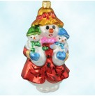 Mrs. Iceburg, Christopher Radko Christmas Ornaments, 1999, 99-SP-52, Spring Event, Snowman,mom & babes, Mint with Tag, Box