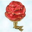 Rose Red, Radko Ornaments, 1997, 97-101-0, German, Clip On, Frosted, red, Christmas Christopher, Mint with Tag