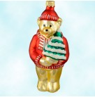 Papa Bear - Red & No ornaments, Patricia Breen Christmas Ornaments, 1996, 9638, Goldilocks & Three Bears, Mint