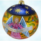 Peace on Earth Angel Ball, Radko Ornaments, 1999, 99-SP-41, stars and palms, Christmas, Mint with Tag, Box
