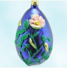 Chrysalis Egg Realized - Cobalt, Patricia Breen Christmas Ornaments, 1996, 9608, Easter, Caterpillars & cocoons, Easter, Mint with Tag