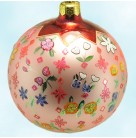 Grandmother's Garden Ball - Pink, Radko Ornaments, 1999, 99-339-0, Various flowers, floral, Christmas Christopher, Mint with Tag