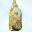 Glad Tidings - Gold Leaf Cloak, Patricia Breen Christmas Ornaments, 2003, 2319, Holly & berries in bag, Mint with Tag
