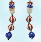 Kinetic Icicle - Independence Day, Patricia Breen Christmas Ornaments, 2003, 2326, SR, FG, Santa,  stripe top hat, stars; balls, Patriotic, Mint with Tag