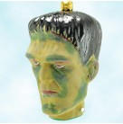 Flat Top - Halloween, Slavic Treasures Ornaments, 2008, HAL08 4002, Bust of Frankenstein's Monster, Mint with Tag, Box