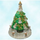 Snowman Topiary - Gold and Silver, Patricia Breen Christmas Ornaments, 2005, 2546, FG, Swarovski crystals, Mint with Tag, Box