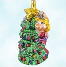 Christmas With Miss Piggy - Tree, Christopher Radko Christmas Ornament, 1997, 97-MPT-06, Jim Henson, Muppets, Christopher, Mint in Box