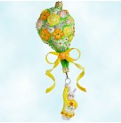 Heavenly Bouquet - Girl Bunny, Patricia Breen Christmas Ornament, 2012 2204, Easter, Floral balloon, bejeweled, Mint with Tag
