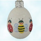 Miniature Egg - Humanized Insects, Patricia Breen Christmas Ornaments, 2008, 2834, Bees & ladybugs, Easter, Mint with Tag