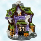 Howl Manor Halloween Ghosts Platter, Christopher Radko Home for the Holidays, 2000, 054211141, Ceramic haunted house, Excellent