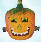 Franken Pumpkin, Patricia Breen Christmas Ornaments, 2003, 2300NM, Neiman Marcus, Limited 300, Jack O' Lantern Frankenstein; Halloween, Mint with Tag