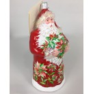 Poinsettia Claus, Patricia Breen Christmas Ornament, 2011, 3127, Bjeweled, Red w red flowers, Mint with Tag