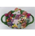 Dapper Hare Family Canape Platter Plate, Christopher Radko Home for Holidays, 2001, 01-6151-0, 00-66-0, 00 66 0,Easter, Mint in Mint Box