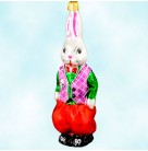 Billy Bunny, Christopher Radko Christams Ornaments, 1997, 96-097-1, Easter rabbit, Red pants, green shirt, fuchsia vest, Mint with Tag
