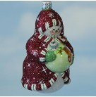 Ornamental Snowman, red, Patricia Breen Christmas Ornaments, 2006, B 2676, 2676, Mint with Tag