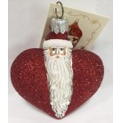 Santa Du Coeur - Red, Patricia Breen Christmas Ornaments, 2000, 2034, Heart, Valentines, Mint