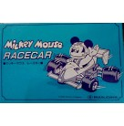 Mickey Mouse Racecar Diecast, Masudaya, 1988, 130-8590, Red, gray, white, Disney decals, race car, Excellent